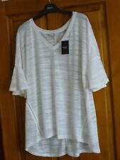 Ladies White top by Next. BNWT. Nice soft feel material. lSize 22. Linen blend