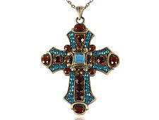 Easter Antique Celtic Cross Crucifix Necklace Religouse Cross Pendant Necklace