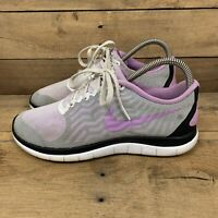Nike Free 4.0 Womens Size 8 Purple White Gym Athletic Running Shoes 718412-160