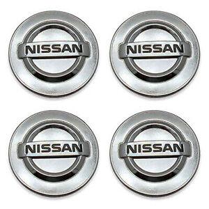 "Set of 4 Silver Chrome logo Car Alloy Rim Wheel Center Hub Cap for 54mm 2 1/8"""