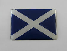 100mm SCOTLAND FLAG Sticker/Decal - WITH HIGH GLOSS DOMED GEL FINISH