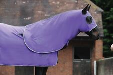 Weatherbeeta Cotton Show Set 5.9 with hood and tailbag NEW 100% cotton purple/gr