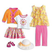 """American Girl BITTY BABY  MIX & MATCH TEATIME SET for 15"""" Doll Sandals Twin NEW"""