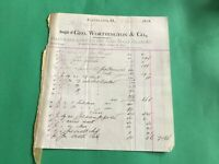 Geo. Worthington & Co Nails Cutlery Glass  Cleveland 1878  receipt R37274