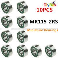 5x11x4mm Ball Bearings 10 pack - MR115 2RS Bearing 5x11mm Bearing by ACER Racing