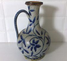 Doulton Lambeth stoneware jug by Louisa Edwards, dated 1877