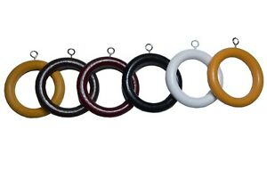 Quality Wood Wooden curtain Pole Rod Spare rings hanging Hooks 6 colors 3 Sizes