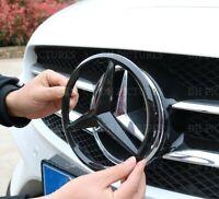 Mercedes Carbon Fibre Front Grille Star Badge Cover A C GLA CLA ML CLS E Class