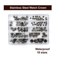 Waterproof Black Colour Watch Crown Parts Replacement Assorted Watch Repair Kits