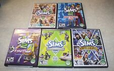 SIMS 2 & 3 5 PC GAME LOT ALL 5 GAMES ARE COMPLETE FREE SHIPPING