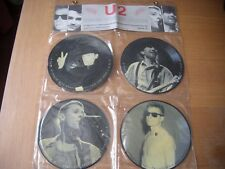 "U2 4 x 7"" INTERVIEW PICTURE disques vinyle Bono avec Hanging Display"
