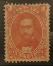 US Hawaii Stamp # 31 Mint OG H 2 C Vermilion