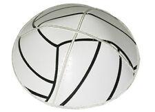 VOLLEY BALL EXCLUSIVE KIPPAH KIPPOT YARMULKA YARMULKE BLACK AND WHITE LEATHER