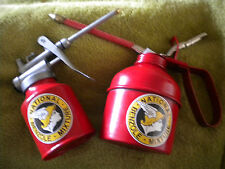 SET OF 2 RETRO REPRODUCTION NATIONAL BENZOLE OIL CANS( 250cc & 500cc)