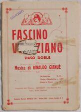 RINALDO GIANUE FASCINO VENEZIANO PASO DOBLE MUSICA 1928