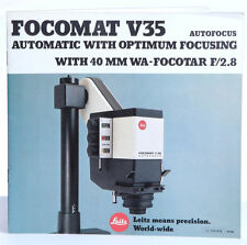 Leitz Focomoat V35 Automatic Enlarger - Booklet Brochure Print - 15 pp