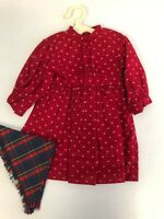 MINT American Girl Pleasant Co Kirsten Red School Dress Prarie w/Shawl 1990 RARE