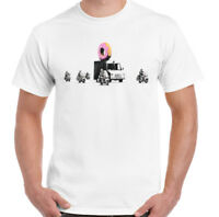 Banksy T-Shirt Donut Police Mens Funny Graffitti Unisex Tee Top