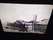 """Edward Curtis """"Grave House"""" Piegan Native American photography 35mm slide"""