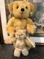 OOAK Artist B. Nesle Mohair Bear & Cat GESSAMEE SESSAMEE & LITTLE MAROON #2/10