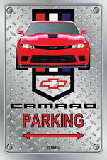 Parking Sign - Chevy Red Camaro 2013 Logo Look