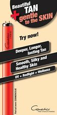SUNBED LAMP TUBE 8 PACK WOW COMBINED TANNING AND COLLAGEN NEW ROBINO 100 WATT