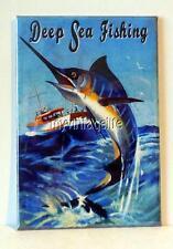 "VINTAGE DEEP SEA FISHING BLUE MARLIN 2"" x 3"" Fridge MAGNET art tool box"