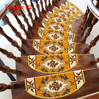Home 13 Steps Area Rug Floral Stair Treads Carpet Mat Non Slip Rugs  Staircase FS