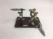 Mitutoyo Micrometer 0 25mm Metric Tool Range 01mm 705 Emi Fixture Tester