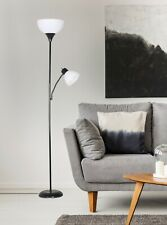 72 Inch Floor Lamp Reading Light Metal Uplight Stand Living Room Bedroom Black