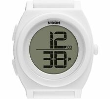 PRE-OWNED $80 Nixon Women's Time Teller Digi White Sport Classic Watch A417-100