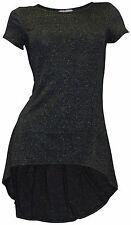 Figurbetonte Damenblusen,-Tops & -Shirts im Tuniken-Stil mit Rundhals für Party