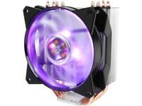 Cooler Master MA410P RGB CPU Air Cooler, 4 CDC Heatpipes, 120mm RGB MasterFan