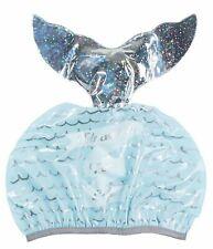 Girls Mermaid Shower Cap Hat Elasticated Waterproof Bath Reusable Xmas Gift Idea