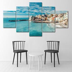 Italy Seashore Wide Coast 5 piece HD Art Poster Wall Home Decor Canvas Print