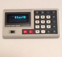 Vintage Casio Mini Memory Calculator  Made in Japan AD-4145 *Tested & Working*