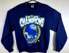 Jerzees 2006 Champions WVU West Virginia Mountaineers Football Sweatshirt NWOT M