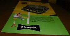 Prospetto foglio OLYMPIA WERKE AG SM 2/3 macchina da scrivere pubblicità con loghi 1958 Top Decorazione