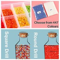 Square Round Drills Missing Beads Bulk 447 DMC Colours For 5D Diamond Paintings