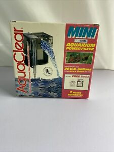AquaClear Mini CycleGuard Aquarium Power Filter A-595 Up to 20 US Gallons Used