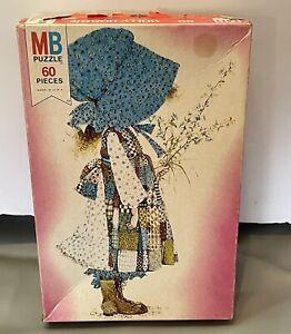 VINTAGE 1976 Holly Hobbie 60 Piece Puzzle Milton Bradley, Ages:4-8, COMPLETE
