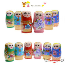5Pcs/Set Wooden Russian Dolls Matryoshka Babushka Nesting Toys Hand Painted Gift