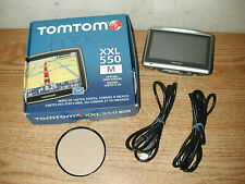 """TOMTOM XXL 550 M LIFETIME MAPS EDITION 5"""" GPS WITH 2 CABLES BUNDLE AND BOX"""