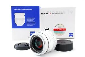 Carl Zeiss Biogon T* 35mm f/2 ZM for Leica M mount Silver [Top Mint] From Japan