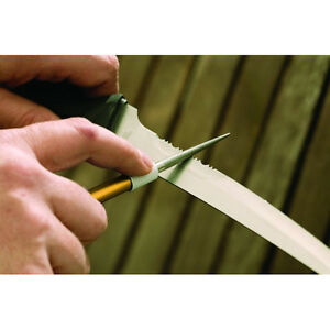 NEW SMITH'S DRET DIAMOND RETRACTABLE POCKET KNIFE SHARPENER ROD Serrated