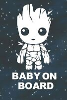 Baby Groot Baby On Board- Car SUV Truck Funny Window Bumper Vinyl Decal Sticker