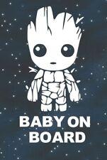 Baby Groot Baby On Board- Car SUV Truck Funny Window Bumper Vinyl Decal Sticker