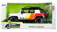 TOYOTA FJ CRUISER CUSTOM W/ROOF RACK WHITE 1/24 DIECAST MODEL CAR JADA 31596-MJ