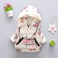 Baby Girls Autumn Winter Jacket For Girls Coat Kids Warm Hooded Outerwear Coat F