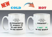 Heat Change Rude Novelty Gift Mug Funny Hot Cold Drinks Changing Word Cup